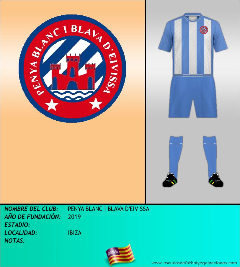 Escudo de PENYA BLANC I BLAVA D'EIVISSA