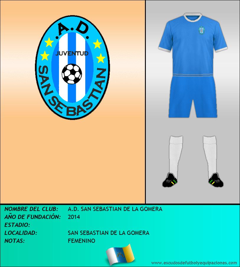 Escudo de A.D. SAN SEBASTIAN DE LA GOMERA