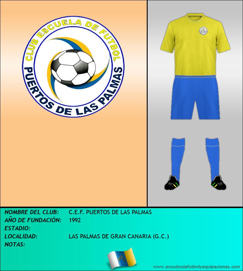 Escudo de C.E.F. PUERTOS DE LAS PALMAS