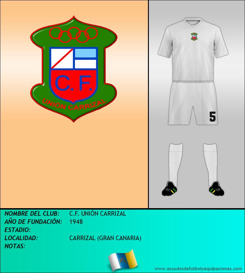 Escudo de C.F. UNIÓN CARRIZAL