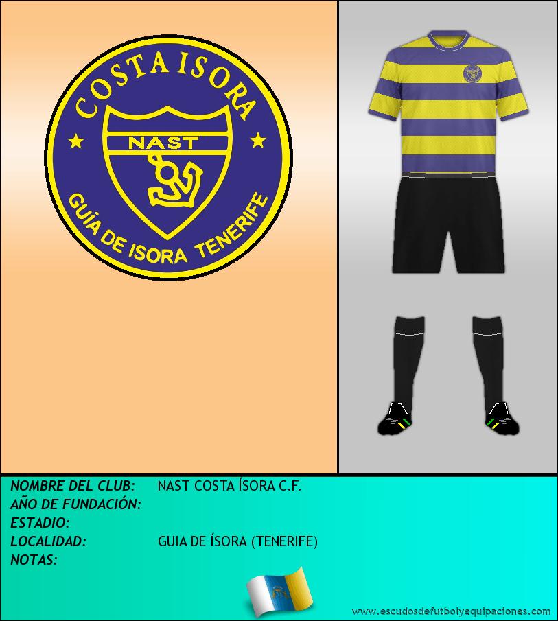 Escudo de NAST COSTA ÍSORA C.F.