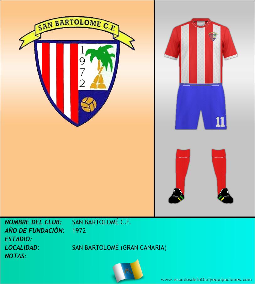 Escudo de SAN BARTOLOMÉ C.F.