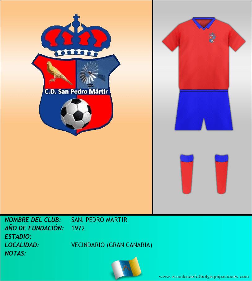 Escudo de SAN. PEDRO MARTIR