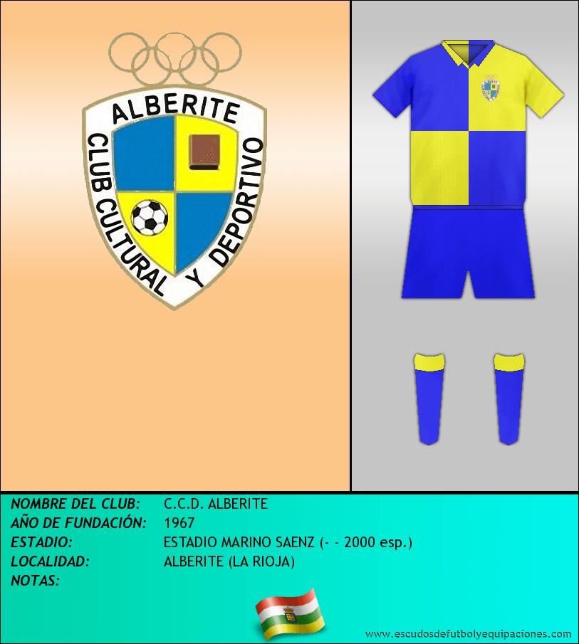 Escudo de C.C.D. ALBERITE
