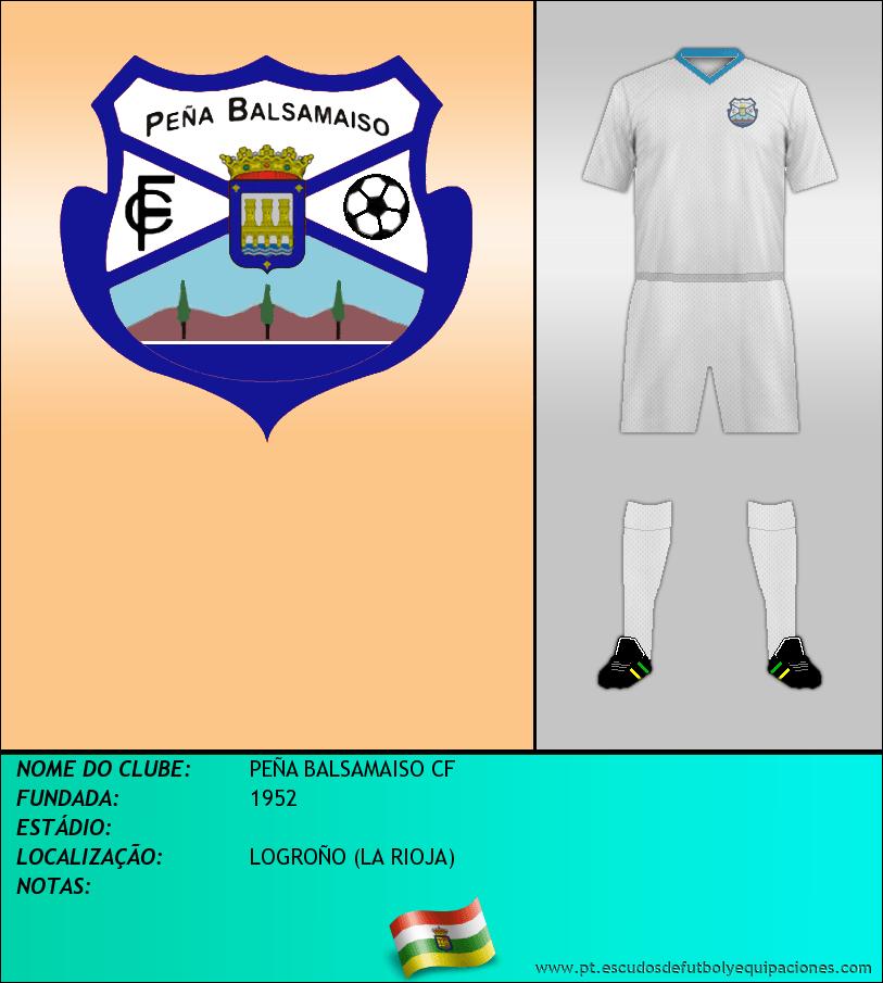 Escudo de PEÑA BALSAMAISO CF