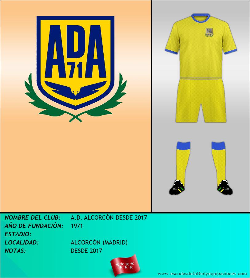 Escudo de A.D. ALCORCÓN DESDE 2017