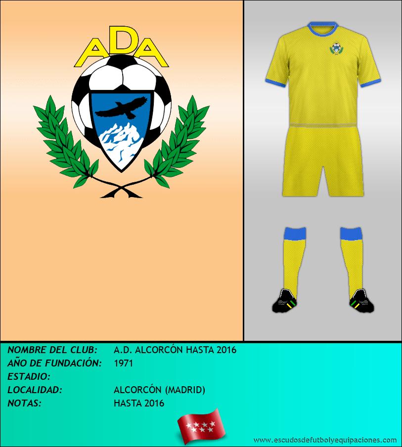 Escudo de A.D. ALCORCÓN HASTA 2016