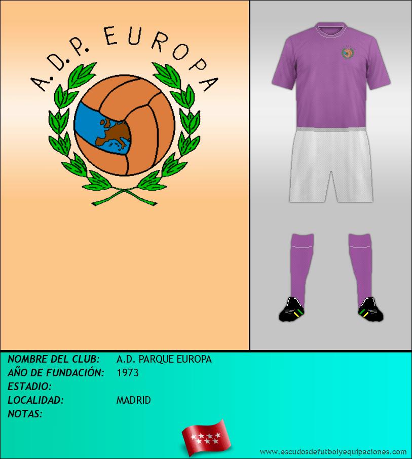 Escudo de A.D. PARQUE EUROPA
