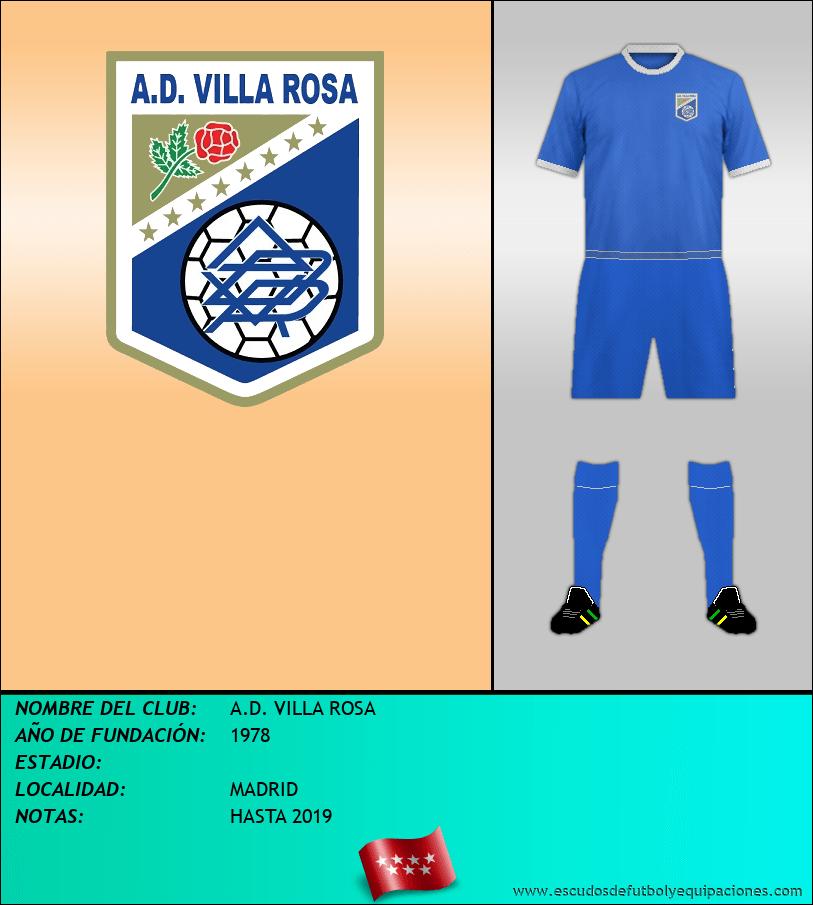 Escudo de A.D. VILLA ROSA