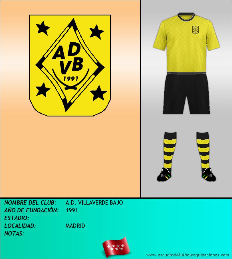 Escudo de A.D. VILLAVERDE BAJO