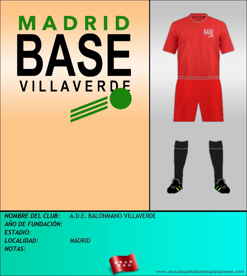 Escudo de A.D.E. BALONMANO VILLAVERDE
