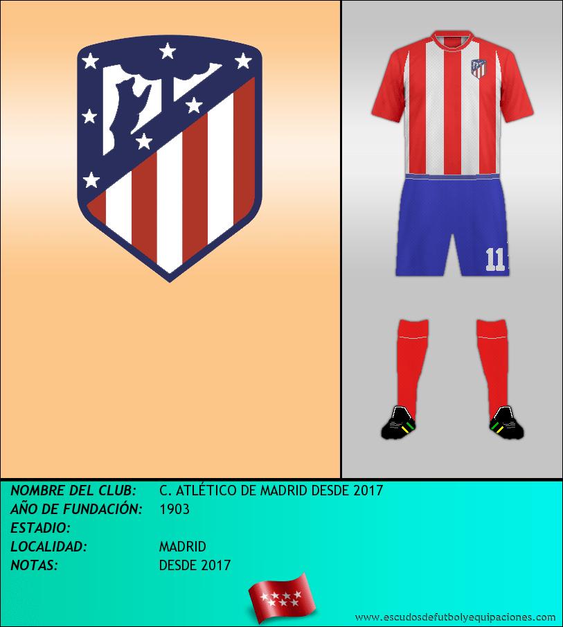 Escudo de C. ATLÉTICO DE MADRID DESDE 2017