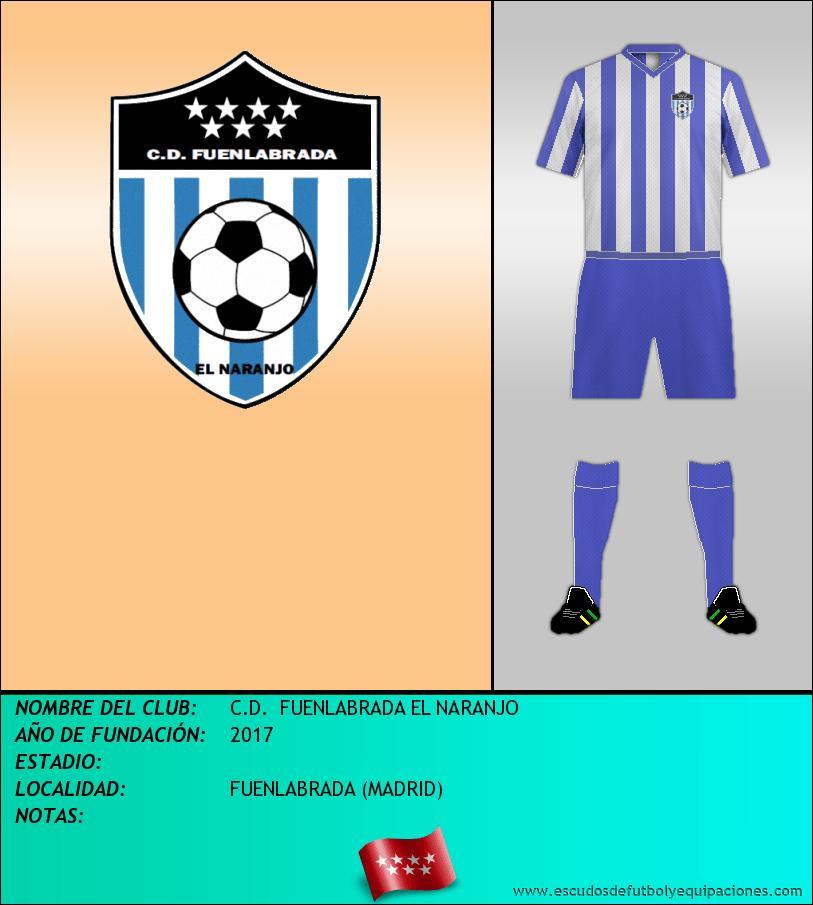 Escudo de C.D.  FUENLABRADA EL NARANJO