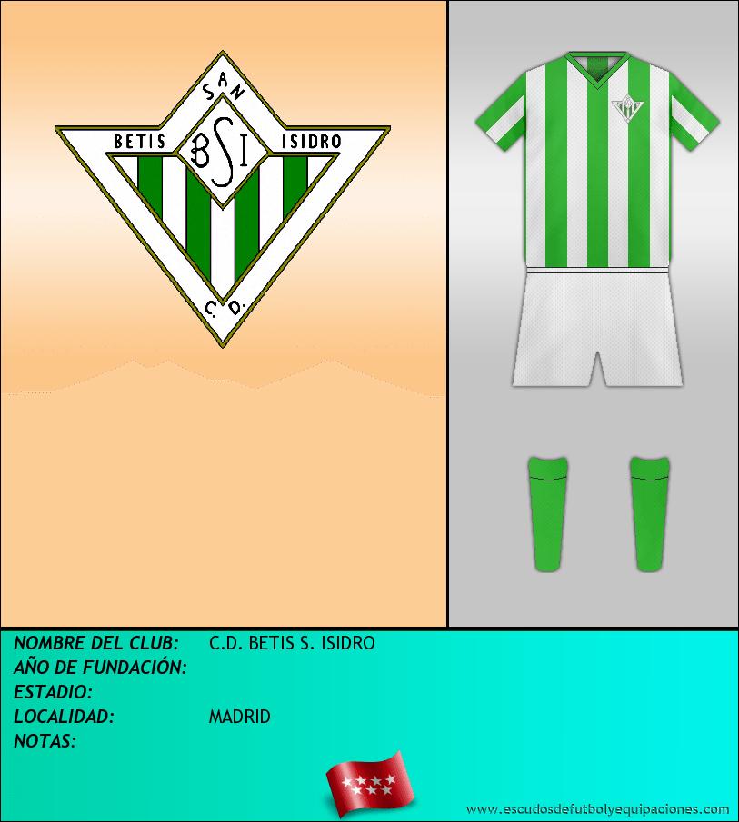 Escudo de C.D. BETIS S. ISIDRO