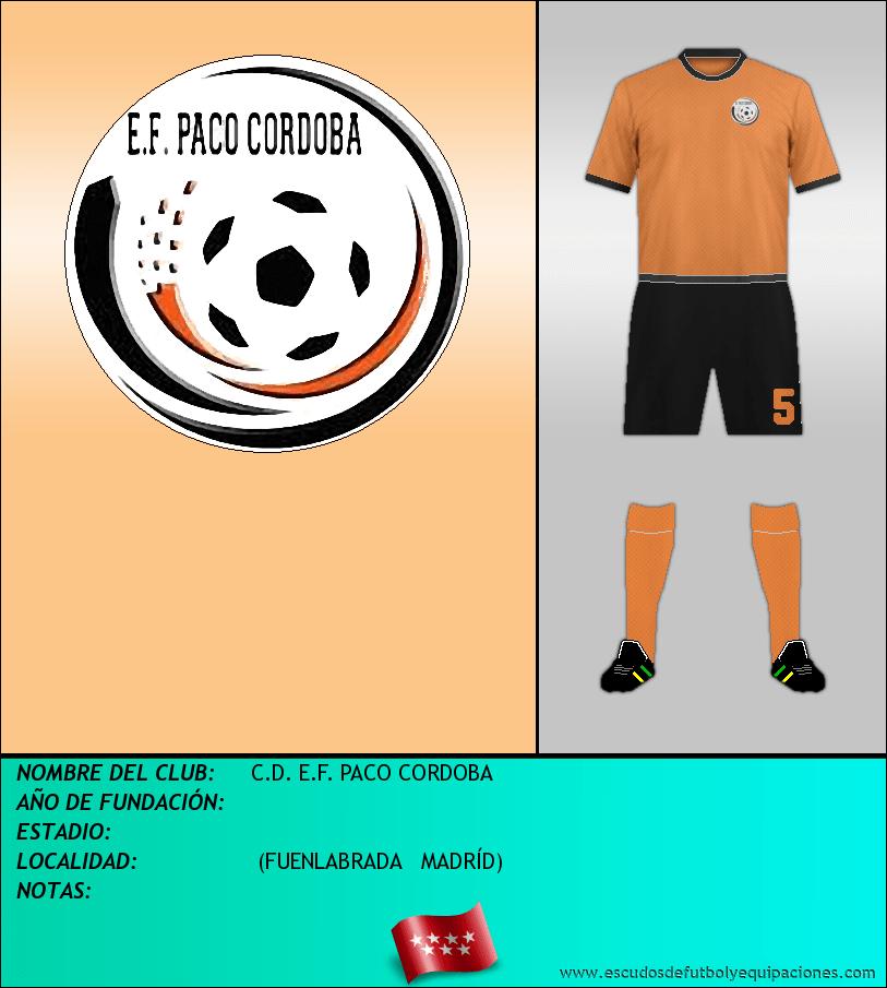 Escudo de C.D. E.F. PACO CORDOBA