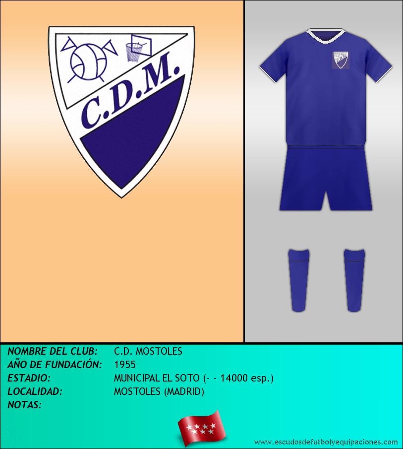Escudo de C.D. MOSTOLES