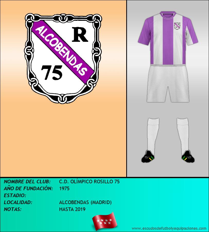 Escudo de C.D. OLÍMPICO ROSILLO 75