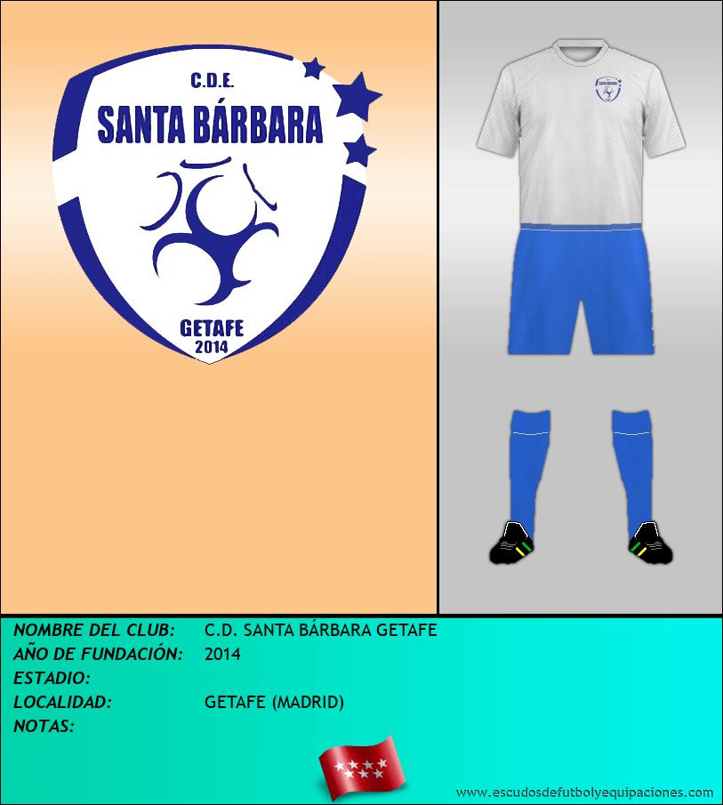 Escudo de C.D. SANTA BÁRBARA GETAFE