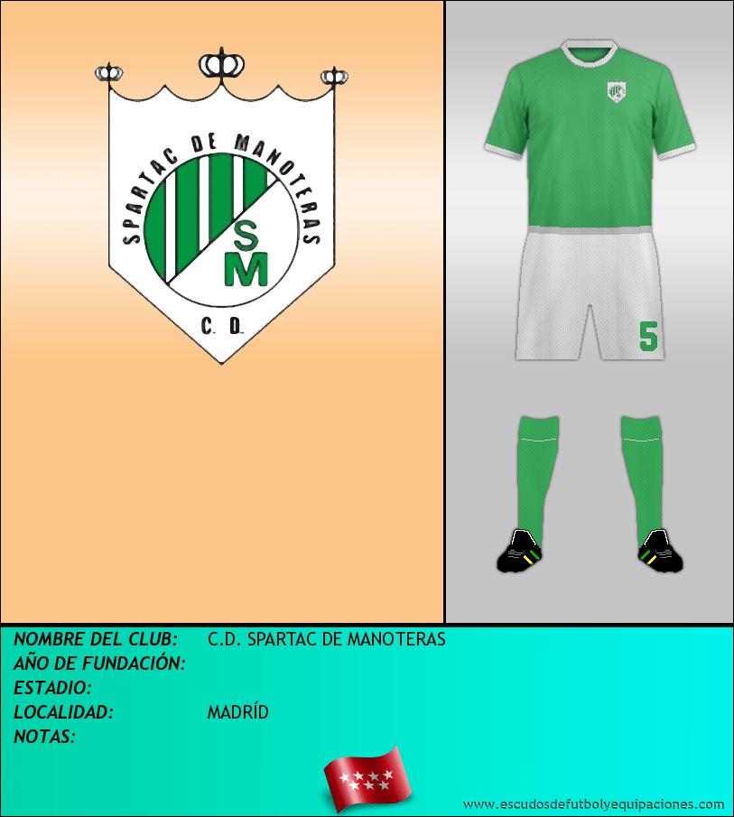 Escudo de C.D. SPARTAC DE MANOTERAS