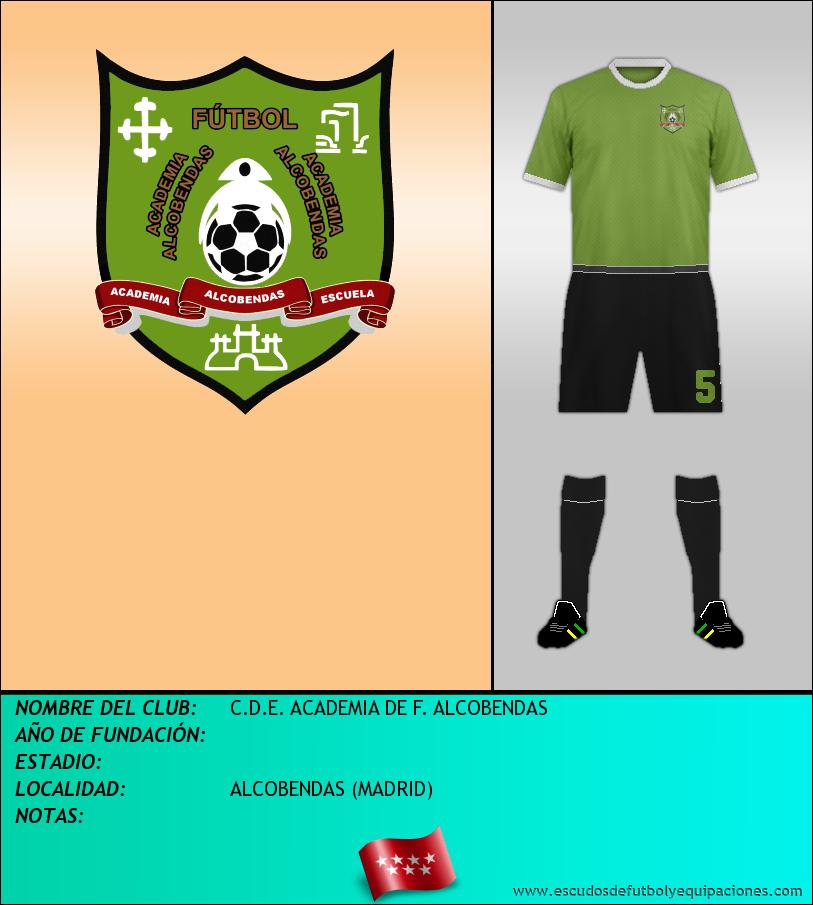 Escudo de C.D.E. ACADEMIA DE F. ALCOBENDAS