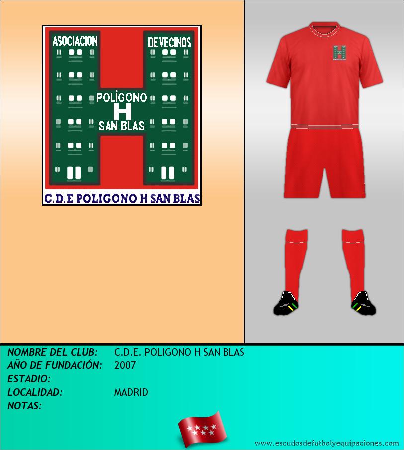 Escudo de C.D.E. POLIGONO H SAN BLAS