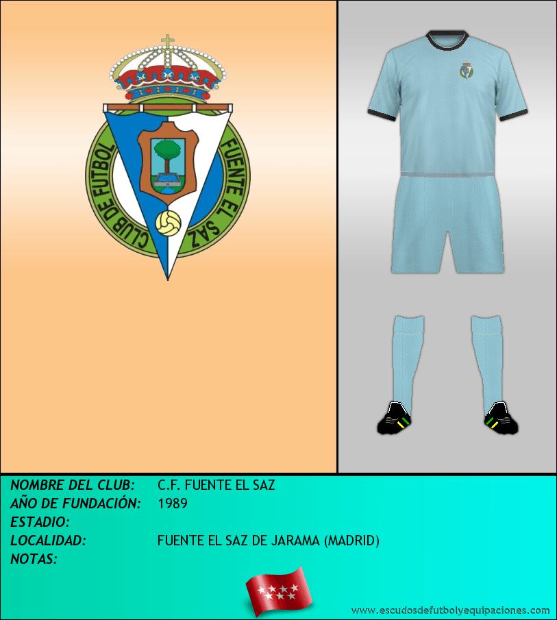 Escudo de C.F. FUENTE EL SAZ