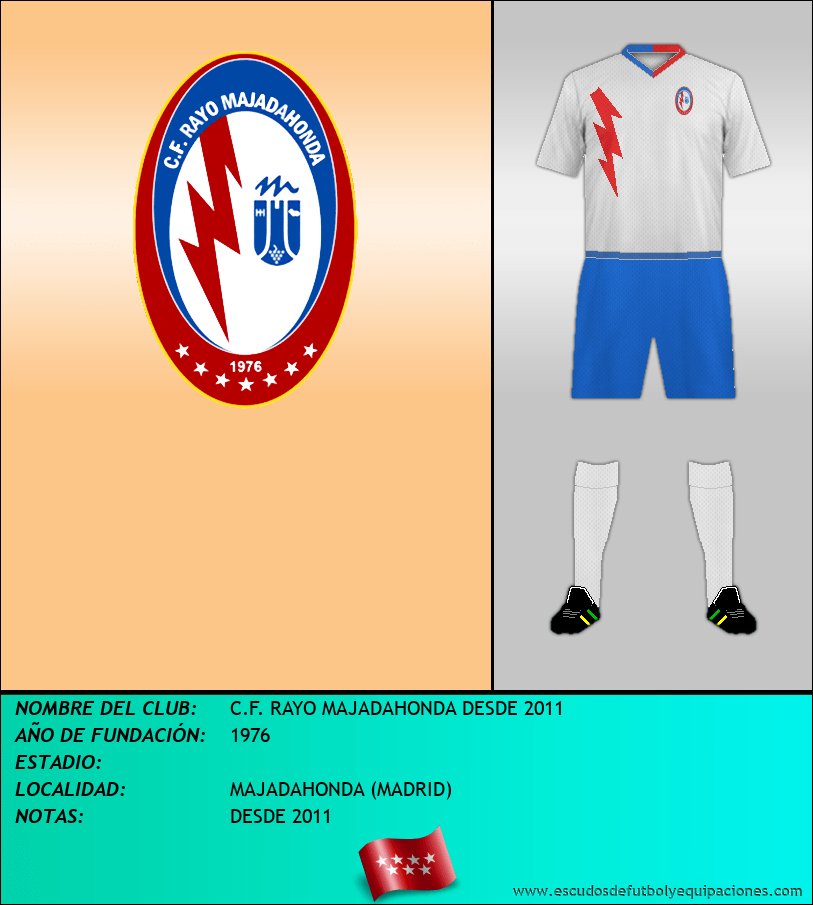 Escudo de C.F. RAYO MAJADAHONDA DESDE 2011