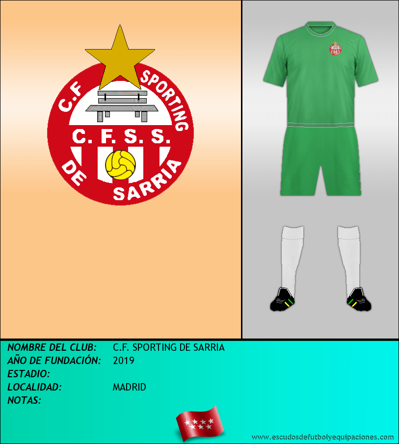 Escudo de C.F. SPORTING DE SARRIA