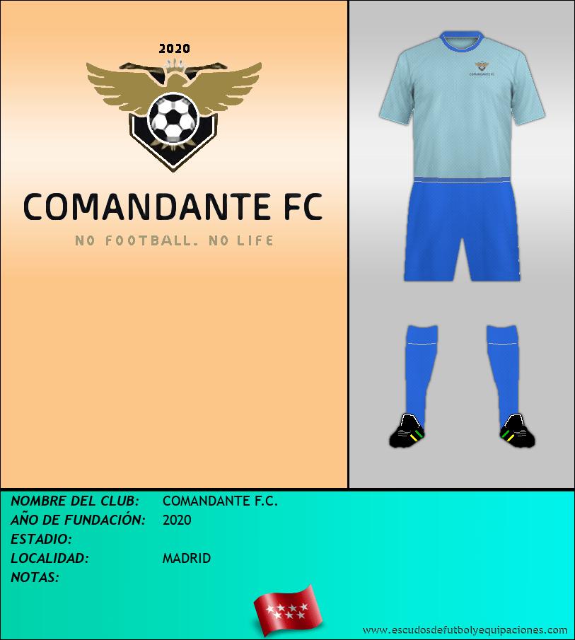Escudo de COMANDANTE F.C.