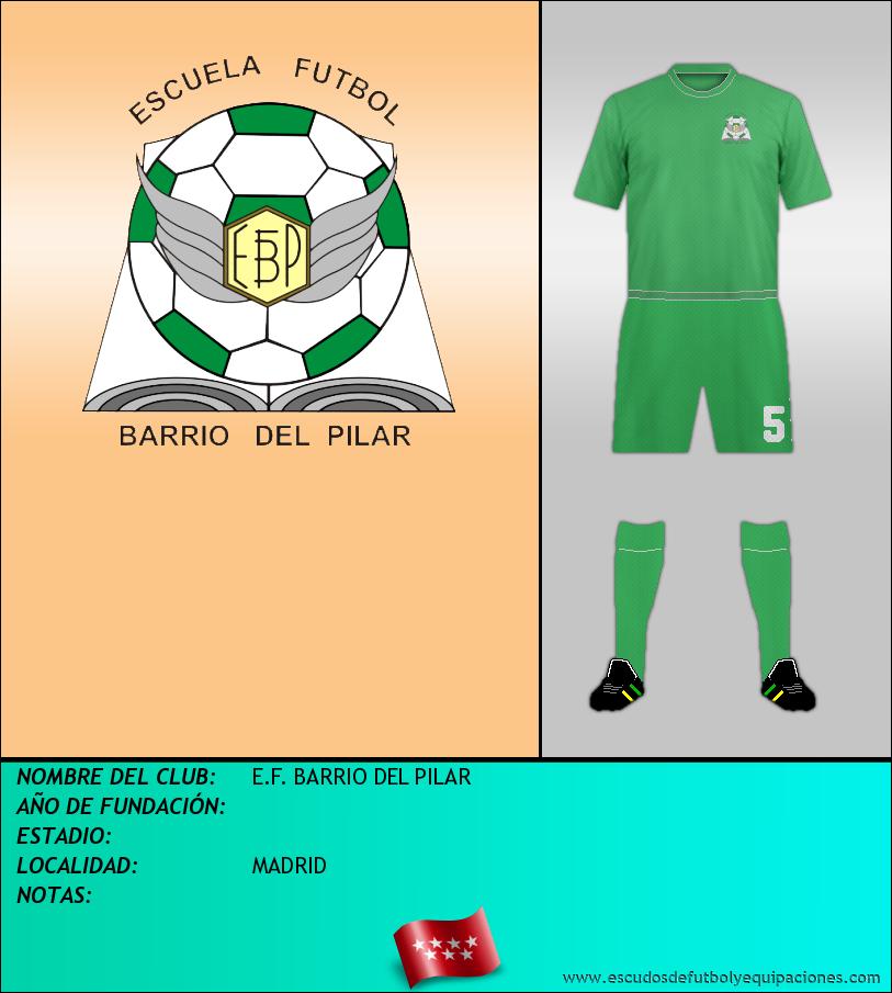 Escudo de E.F. BARRIO DEL PILAR