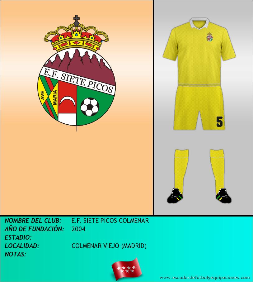 Escudo de E.F. SIETE PICOS COLMENAR