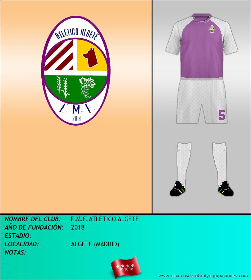 Escudo de E.M.F. ATLÉTICO ALGETE