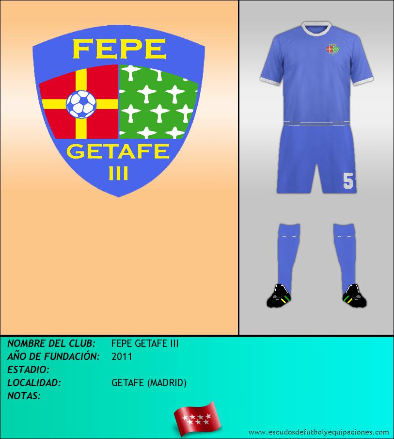 Escudo de FEPE GETAFE III