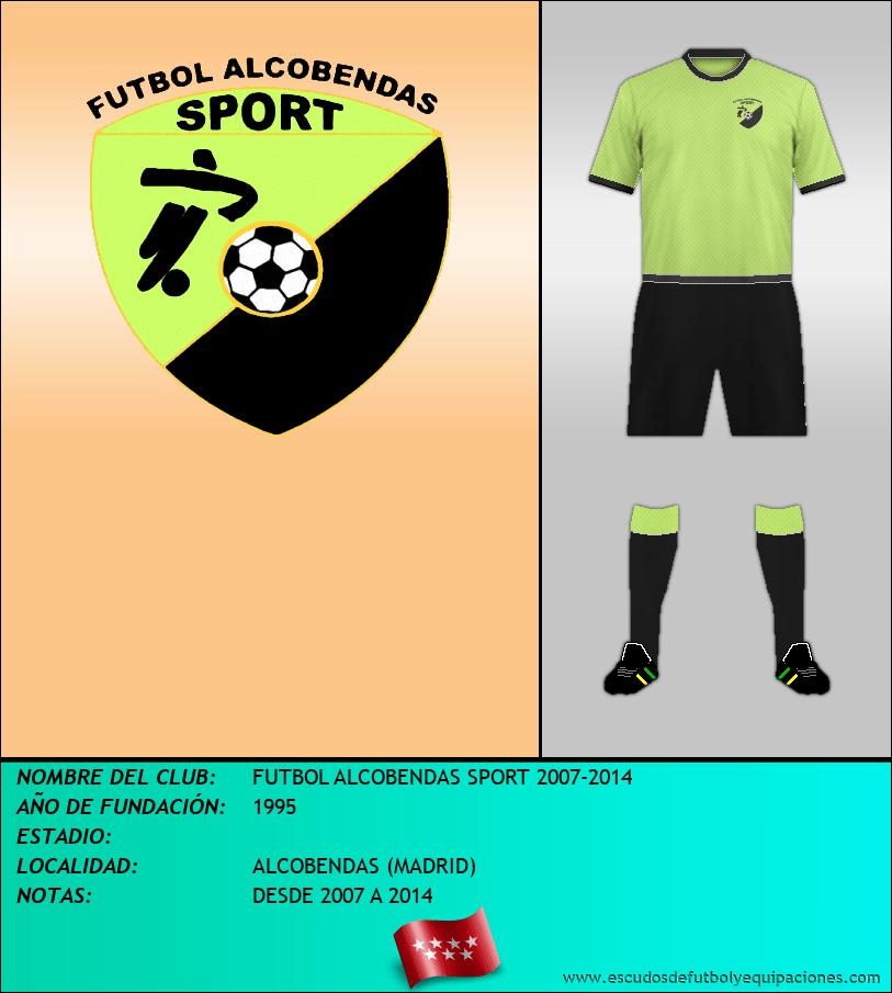 Escudo de FUTBOL ALCOBENDAS SPORT 2007-2014