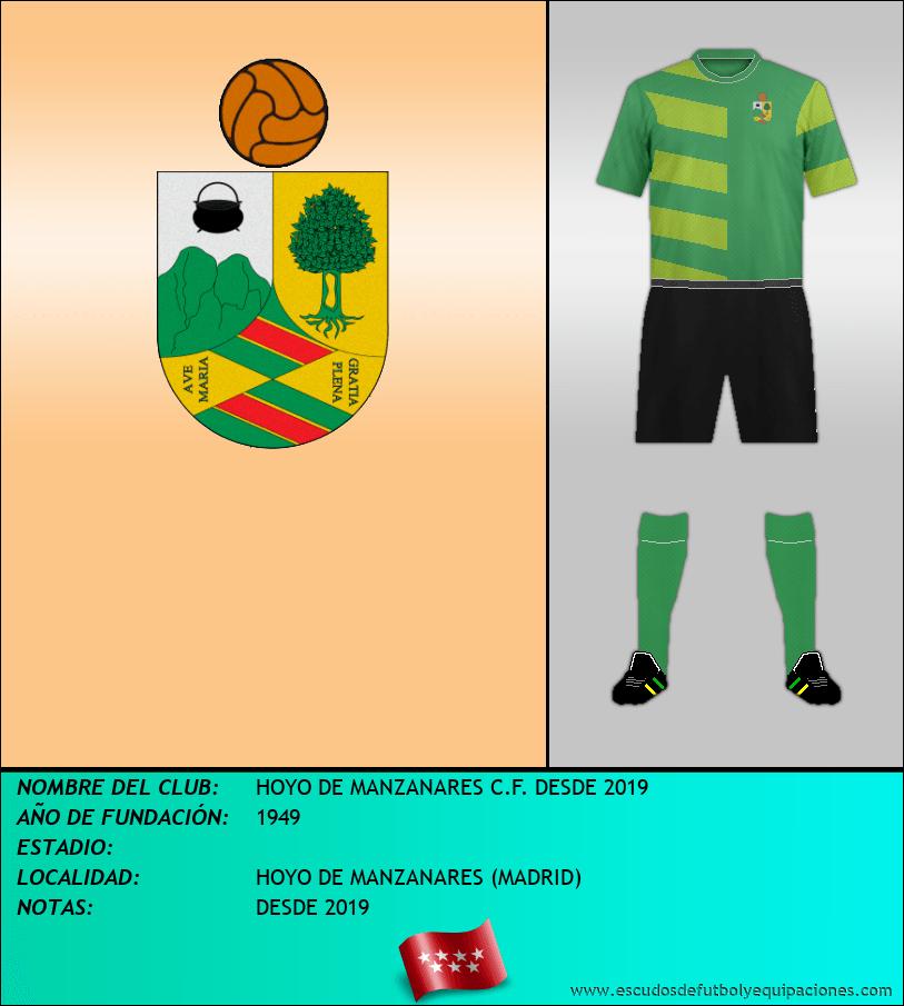 Escudo de HOYO DE MANZANARES C.F. DESDE 2019