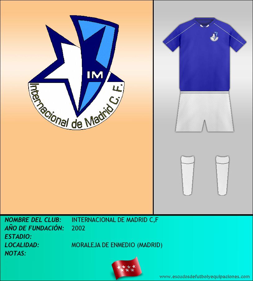 Escudo de INTERNACIONAL DE MADRID C,F