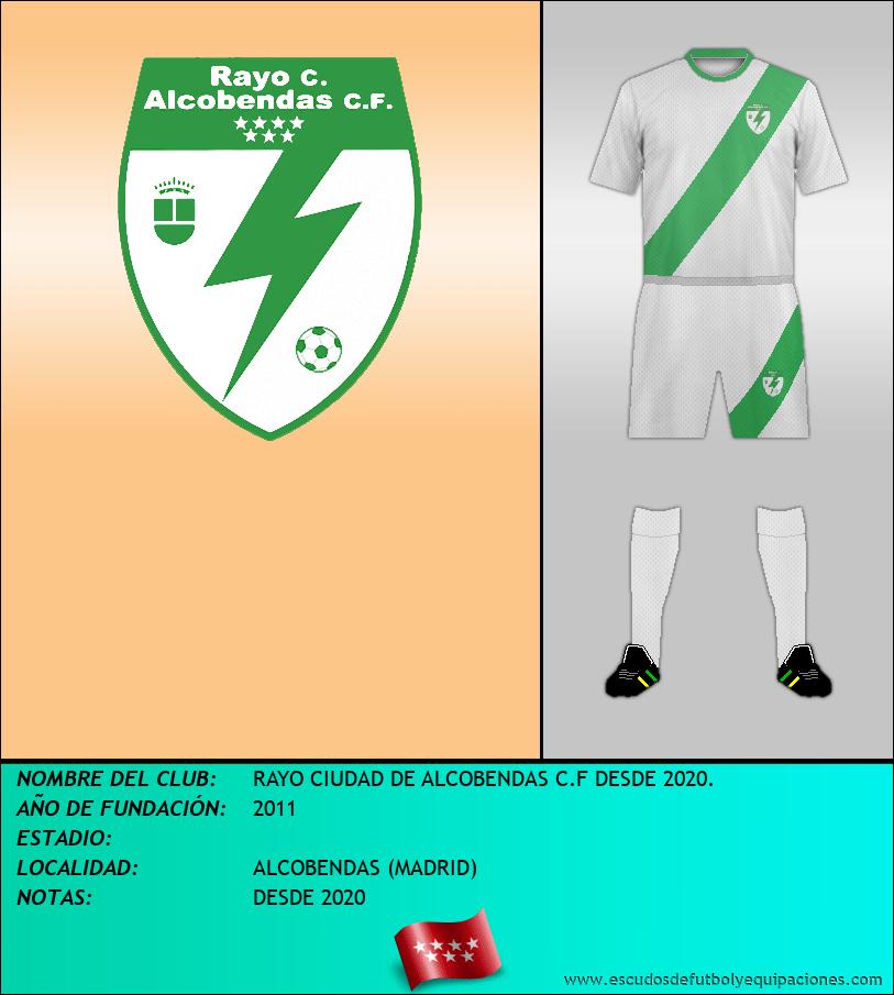 Escudo de RAYO CIUDAD DE ALCOBENDAS C.F DESDE 2020.