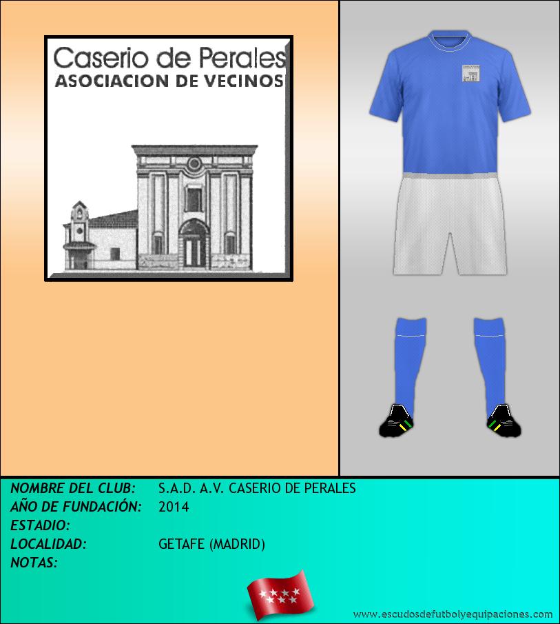 Escudo de S.A.D. A.V. CASERIO DE PERALES