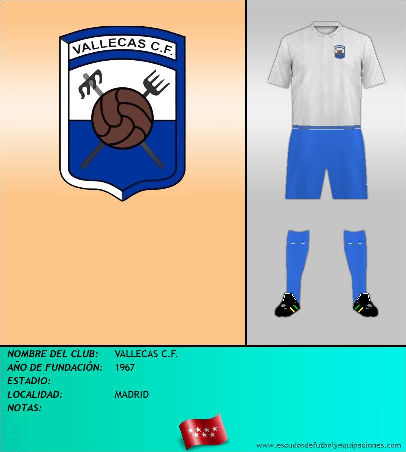 Escudo de VALLECAS C.F.