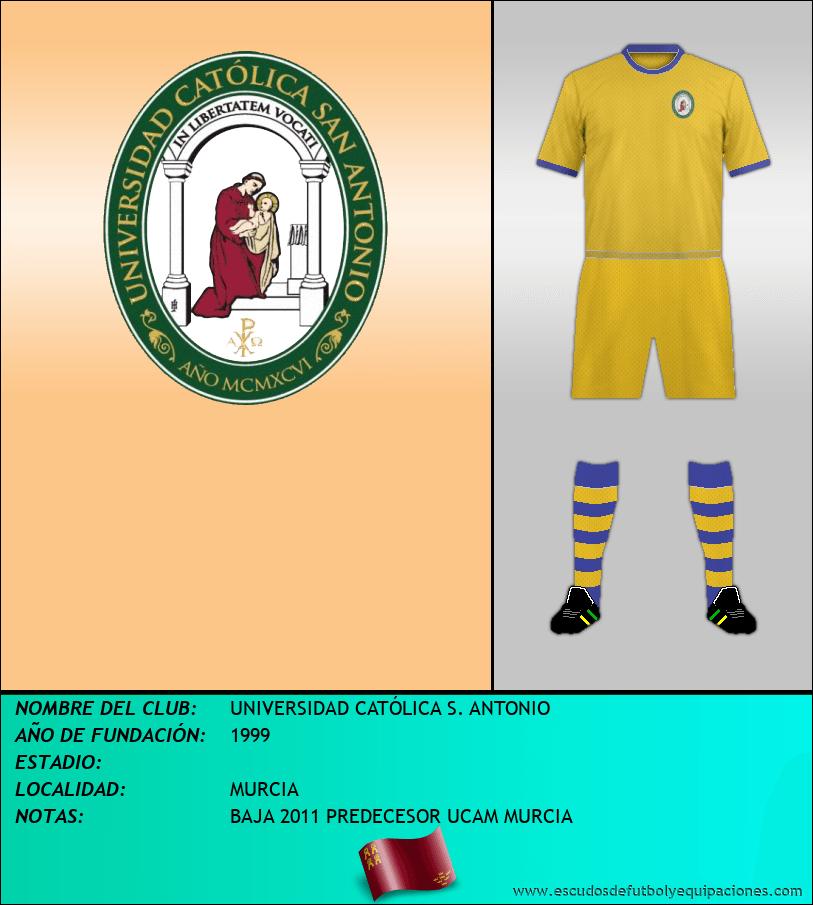 Escudo de UNIVERSIDAD CATÓLICA S. ANTONIO