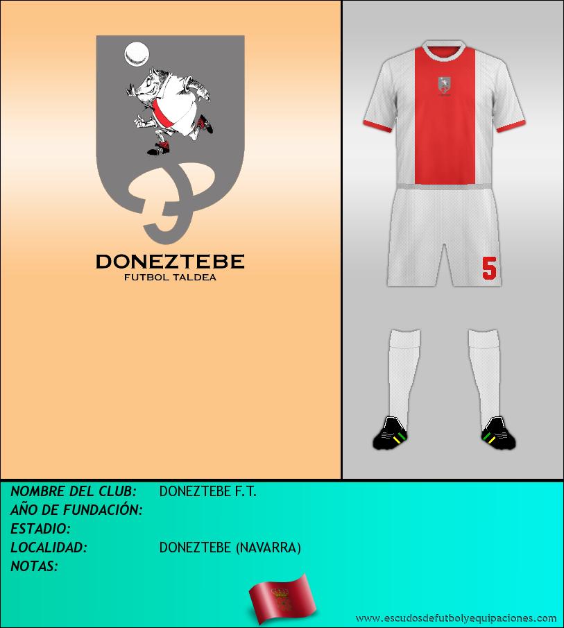Escudo de DONEZTEBE F.T.