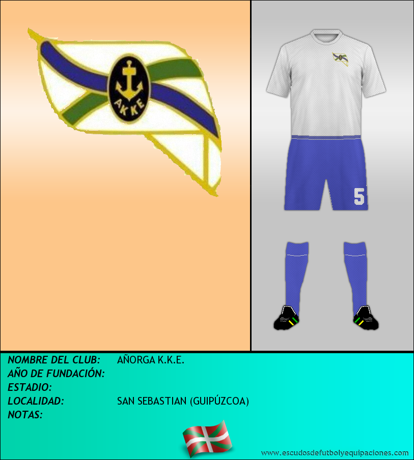Escudo de AÑORGA K.K.E.