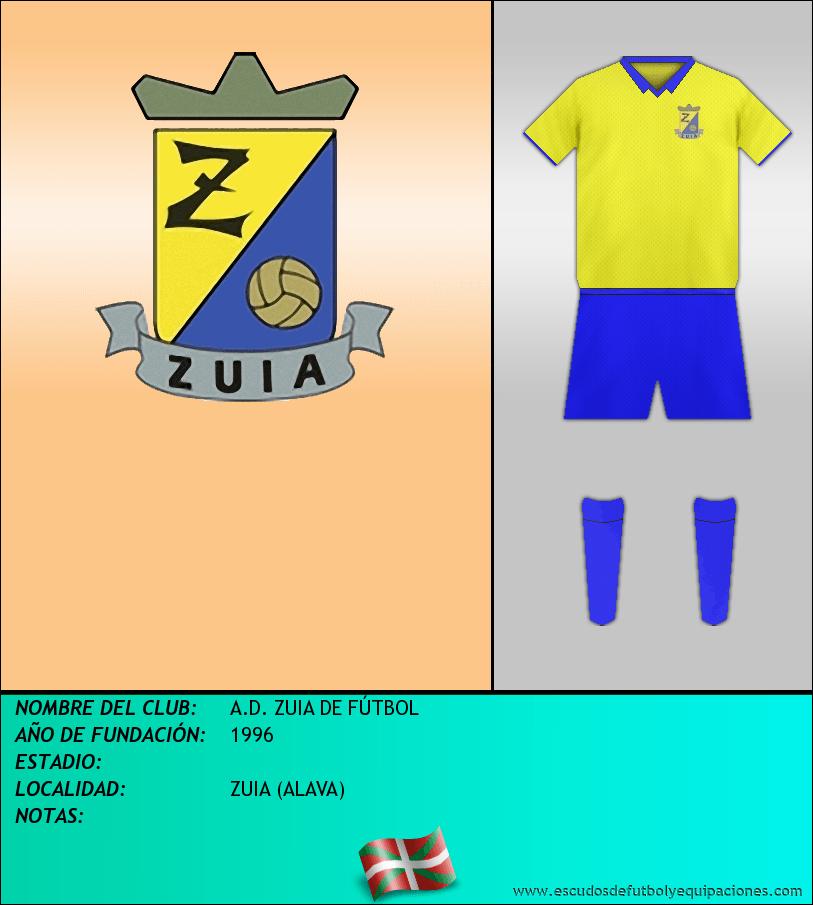 Escudo de A.D. ZUIA DE FÚTBOL