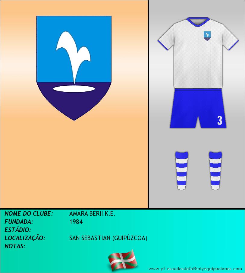 Escudo de AMARA BERII K.E.