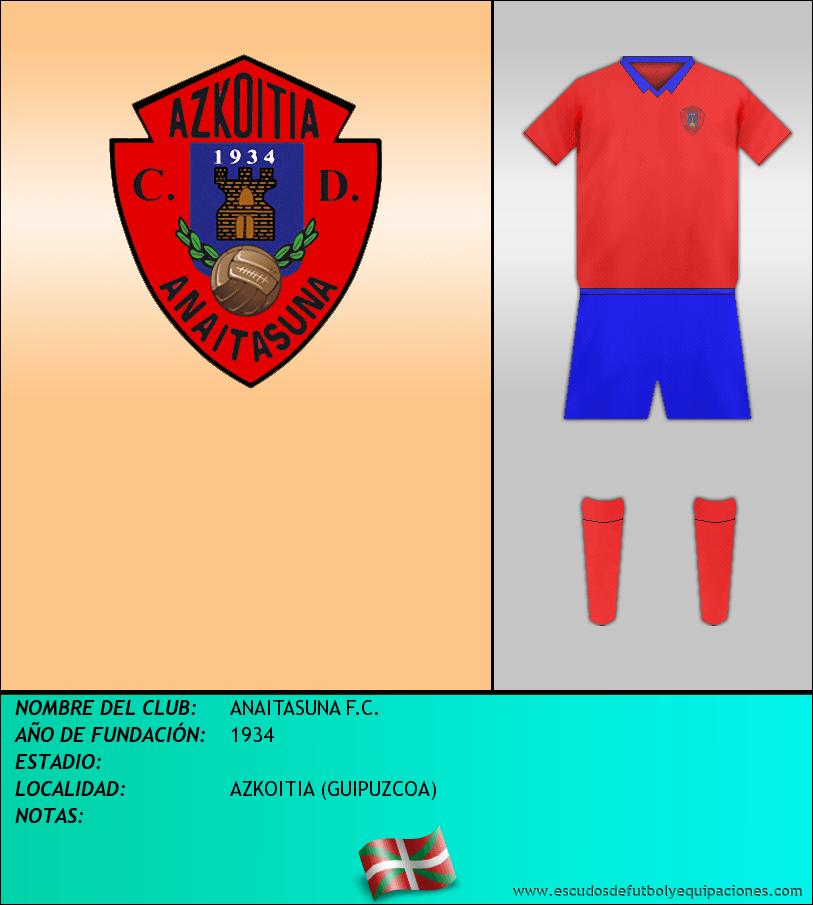 Escudo de ANAITASUNA F.C.