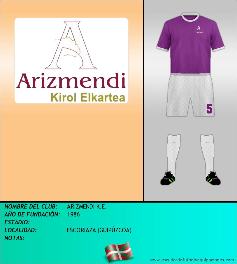 Escudo de ARIZMENDI K.E.