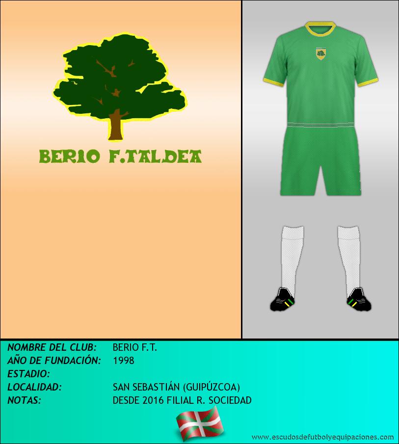 Escudo de BERIO F.T.