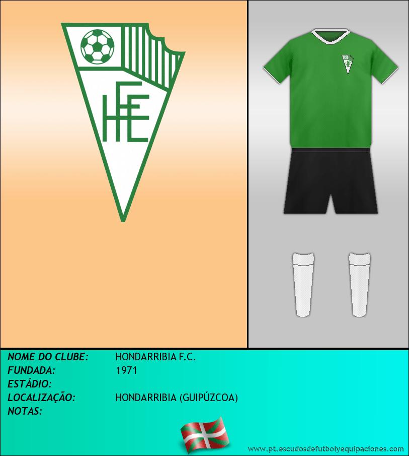 Escudo de HONDARRIBIA F.C.
