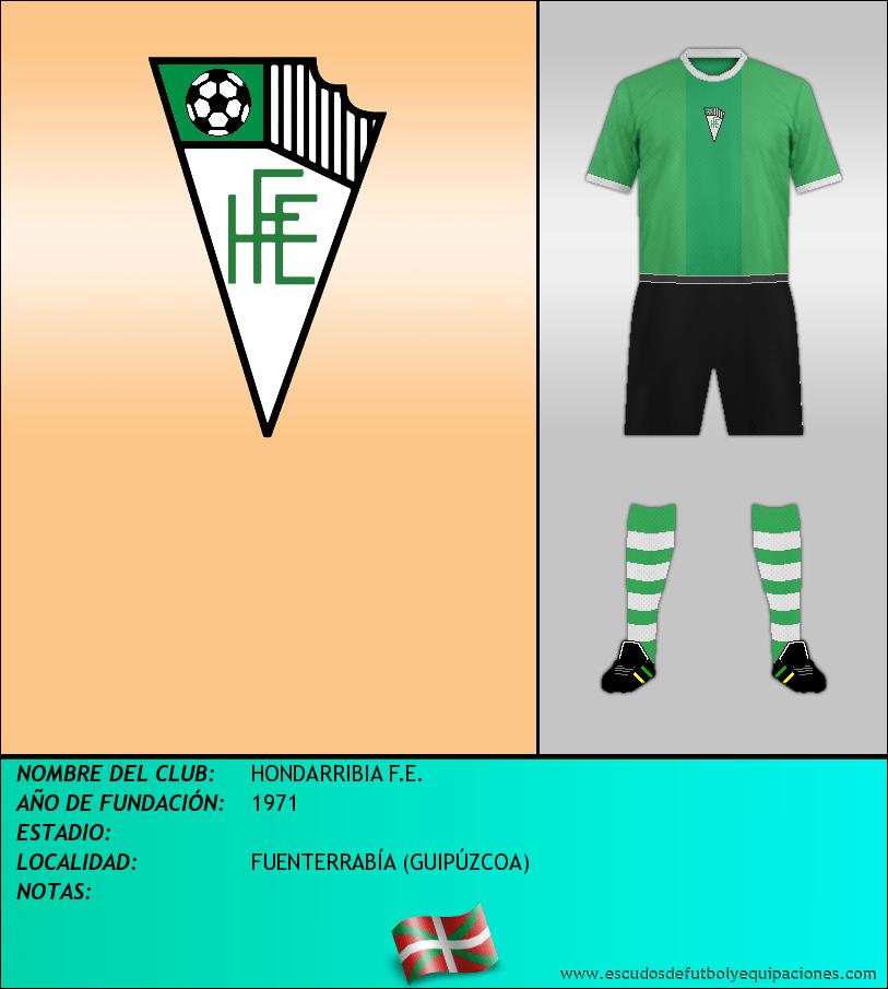 Escudo de HONDARRIBIA F.E.