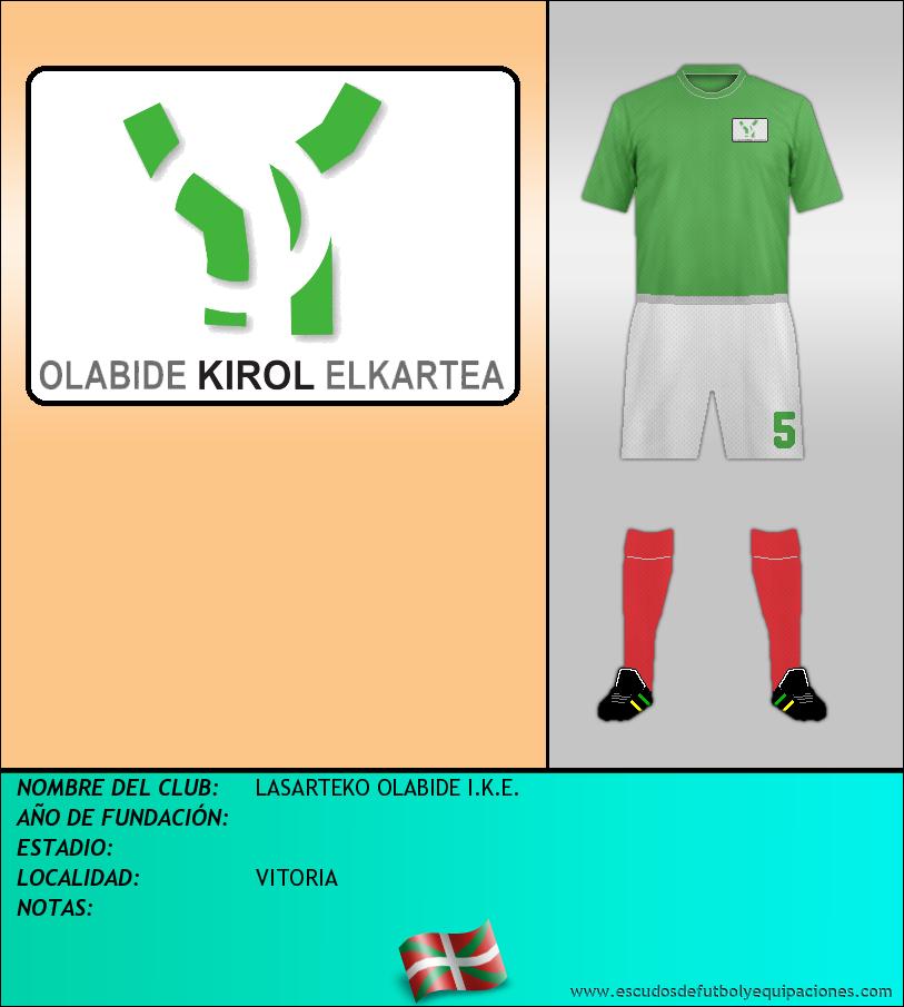 Escudo de LASARTEKO OLABIDE I.K.E.